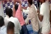 Fist-Fighting In Hyderabad Press Club